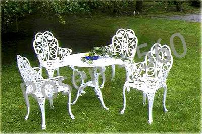 Set mobilier gradina culoare alb simplu