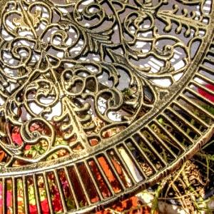 Mobilier gradina Palermo negru cu patina auriu